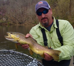 20 inch Watauga river brown trout. Ate a size 22 midge with Huck