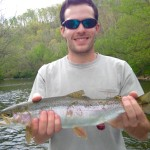 Chromed out Watauga river rainbow trout