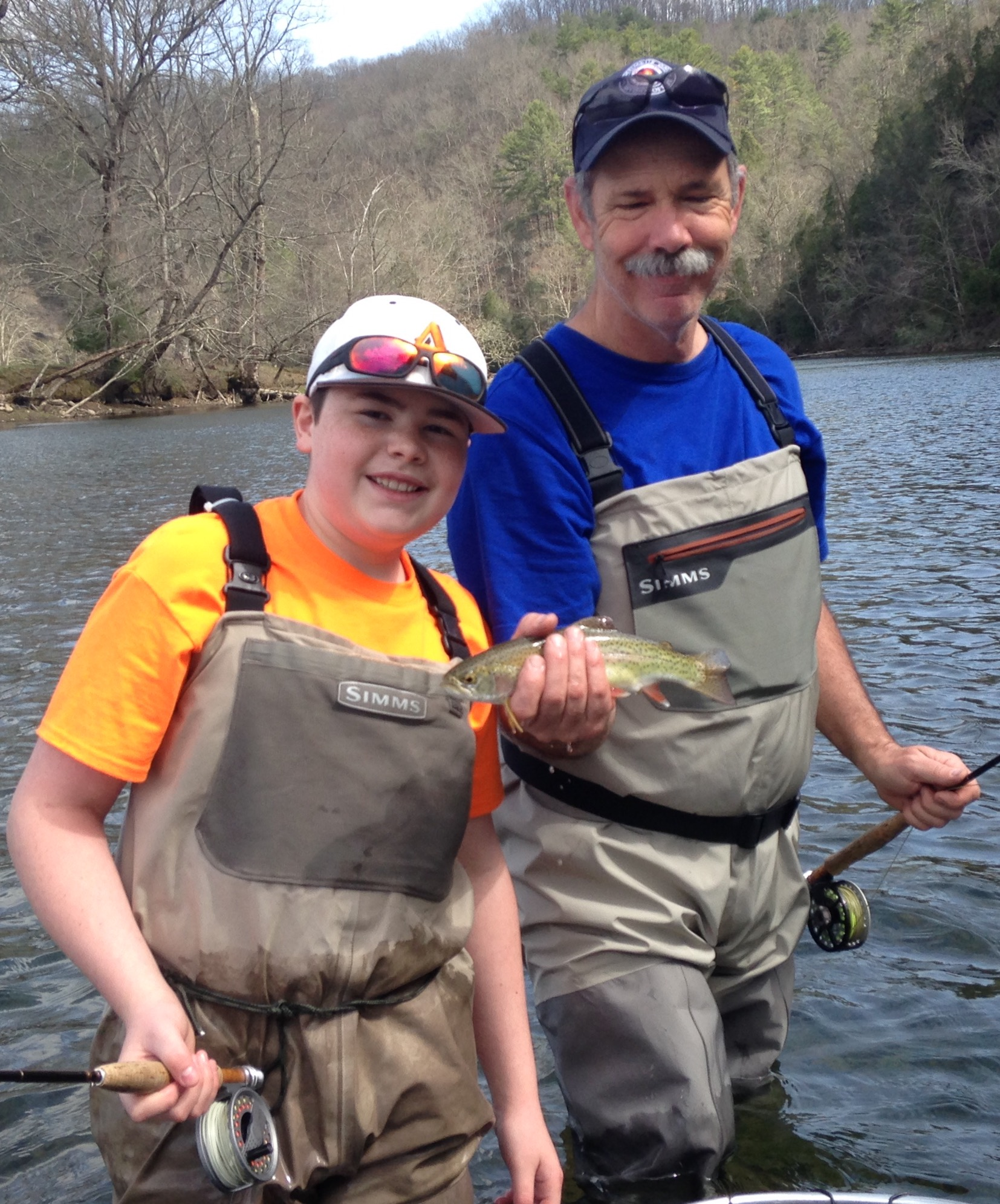 Fly fishing lesson on the South Holston river