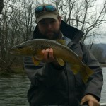 Huck Watauga River 20 inch brown trout white beef curtain