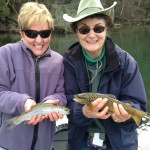 Kathy and Joy doubles on stripper baetis with Huck