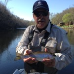 Nice Watauga rainbow trout with Huck