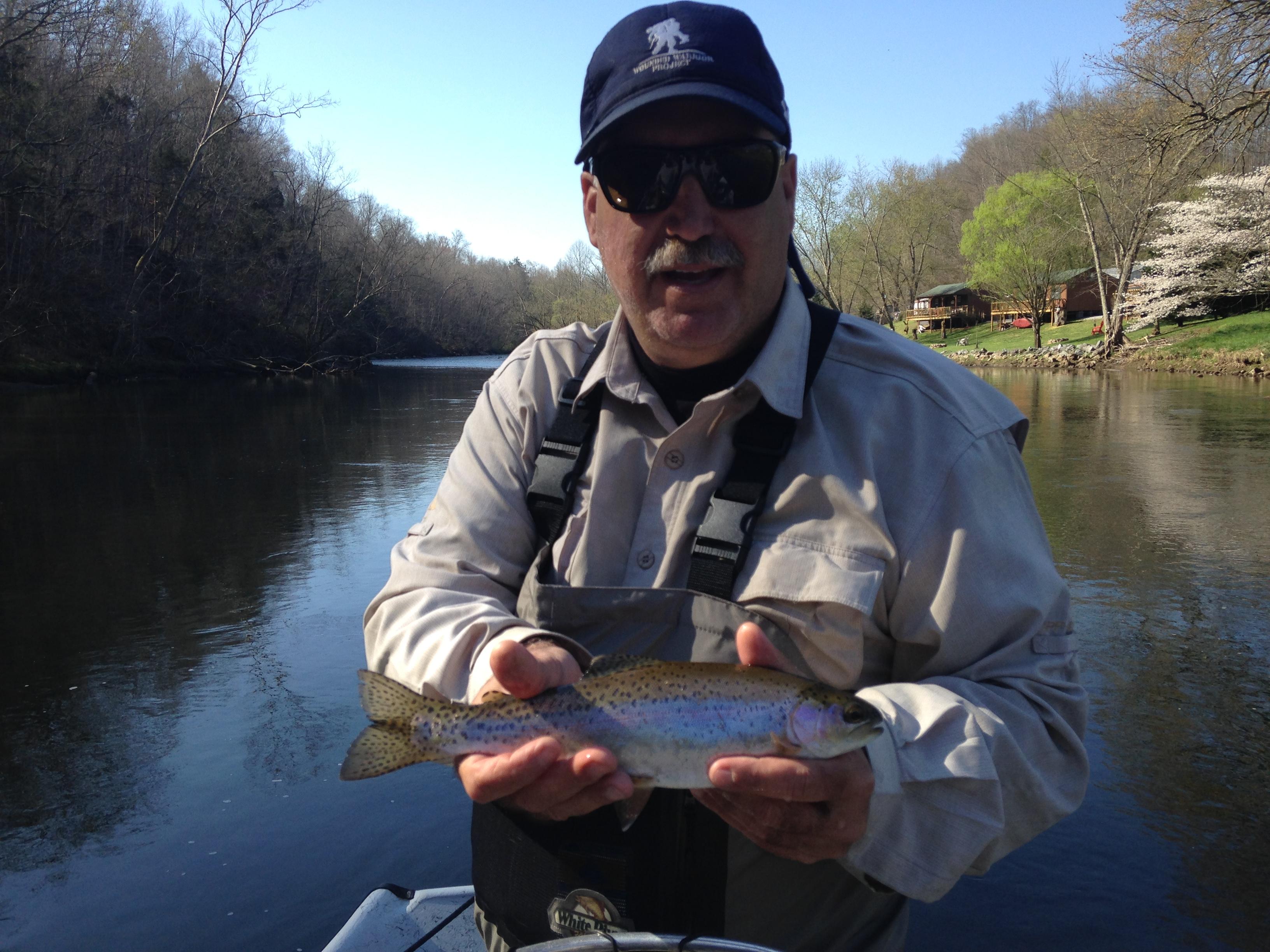 Nice Watauga rainbow trout with Huck