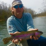 South Holston river rainbow trout fishing with Jon