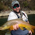 Huck with a South Holston river brown trout