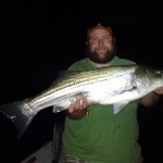 Huck with a South Holston river striper