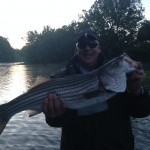 Dickie caught this South Holston river striper on a kreelex with Huck
