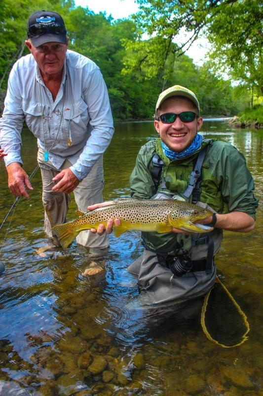 A big South Holston Brown Trout while fishing with Mike King