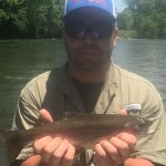 Christian with a nice Watauga river rainbow