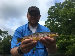 Dave with a Watauga river brown trout