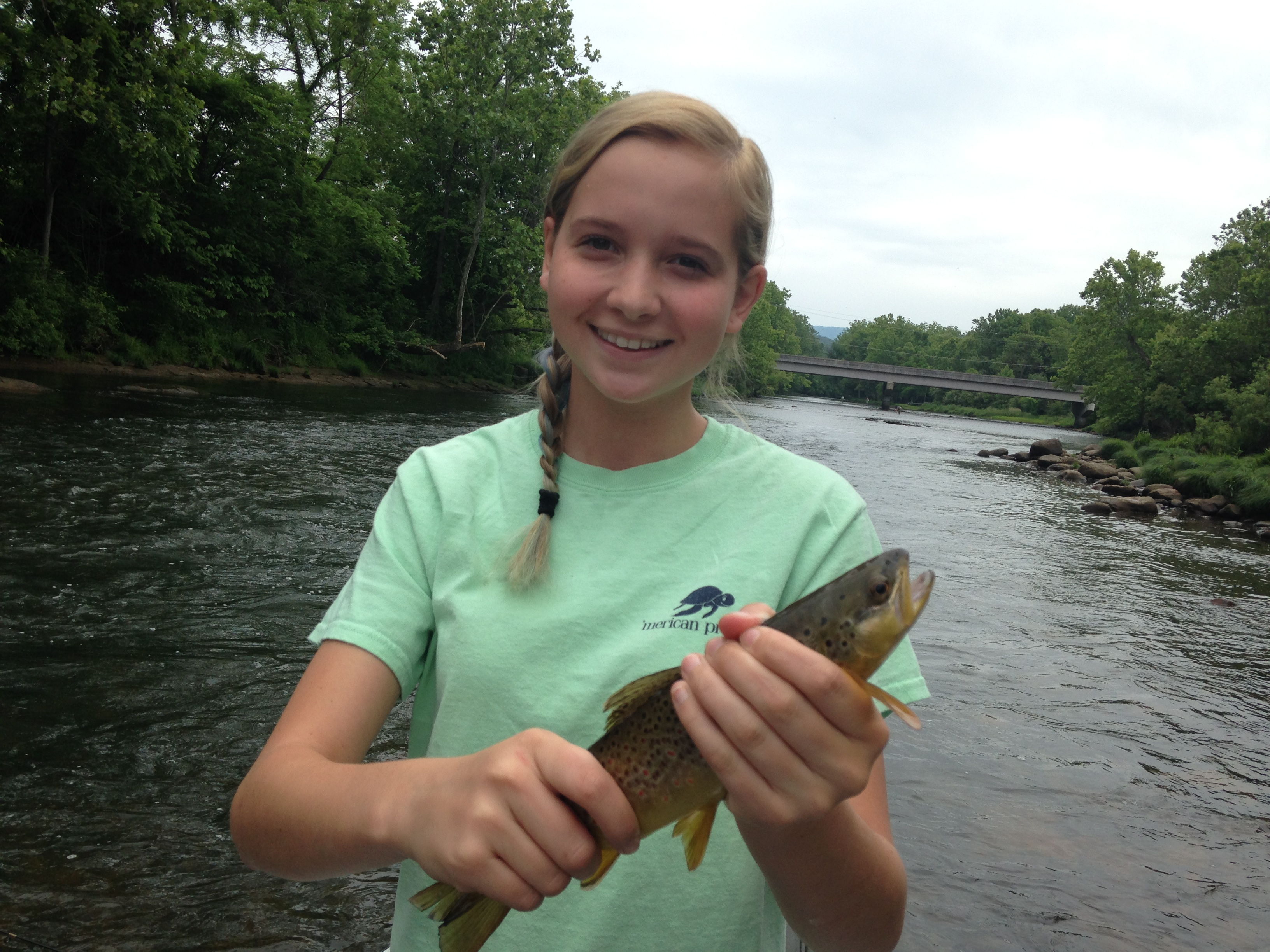 Madison with a Watauga river brown