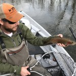 Clint with a Watauga river rainbow trout