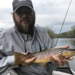 Jim with a Watauga river brown trout