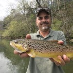 Peter with a South Holston river brown trout