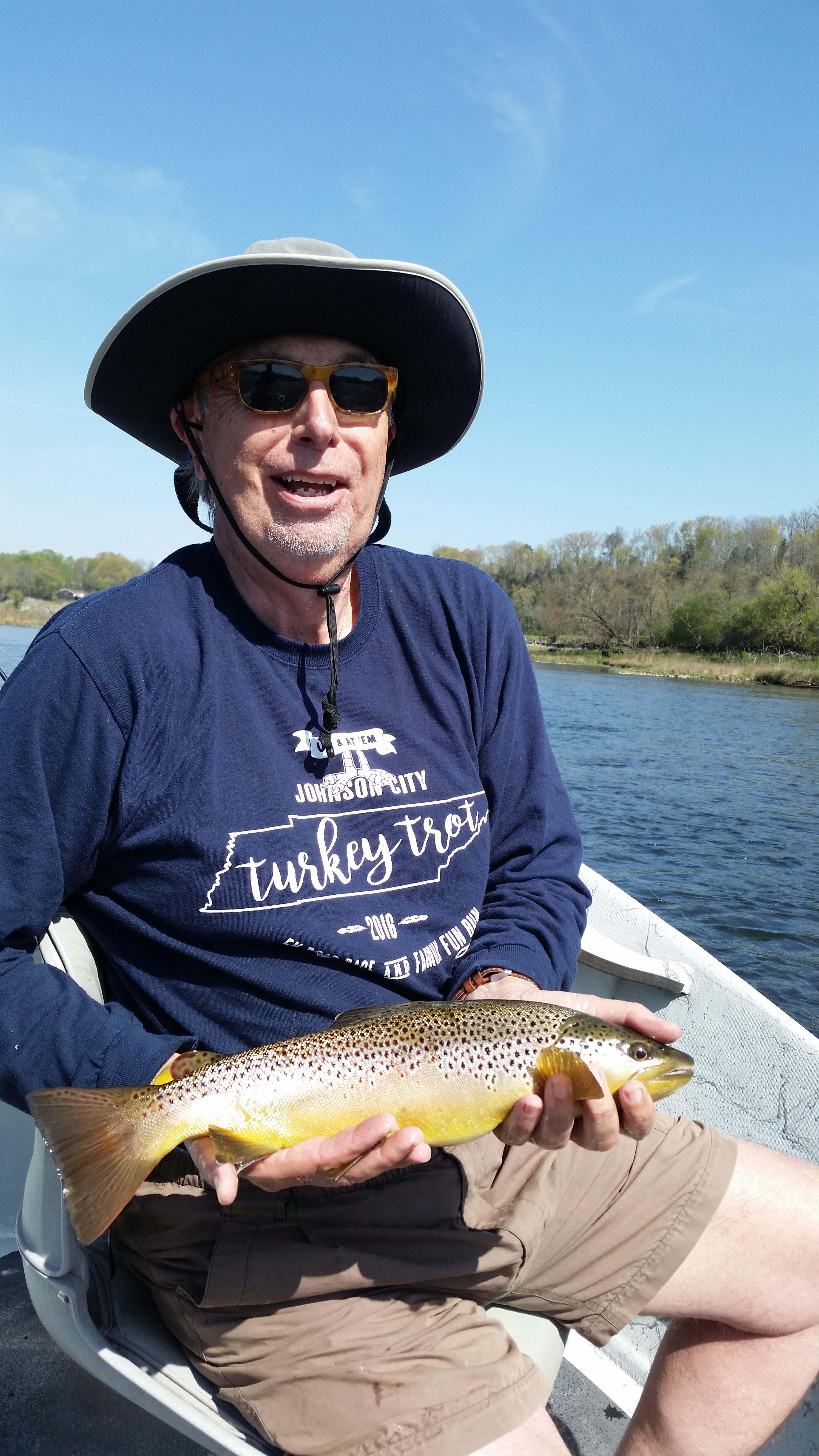 Wild Watauga river brown trout